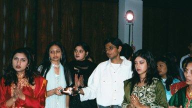 Performing Aarti(worship)